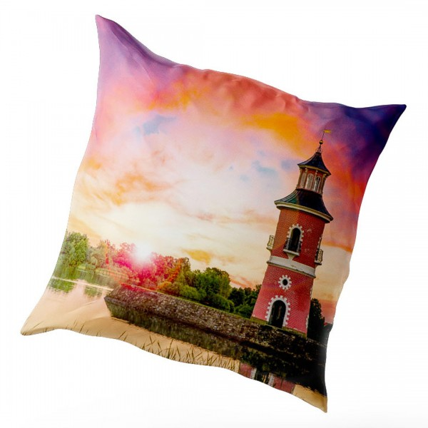 Kissenbezug Moritzburg - Leuchtturm zum Sonnenuntergang (Motiv DMMOR01)