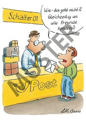 Postkarte Massenmail
