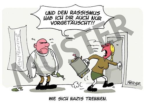 Postkarte Wie sich Nazis trennen
