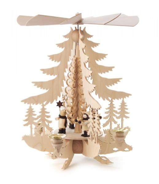 Weihnachtspyramide mit Kurrende für Kerzen Durchmesser 14mm