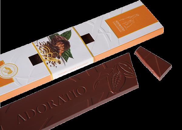 Bio-Schokolade - Karamellisierte Kakaonibs