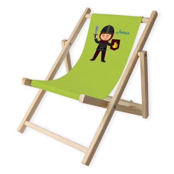 Kinder-Liegestuhl Ritter mit Personalisierung