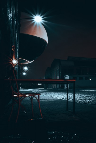 Wandbild Leipzig - Techne Sphere bei Nacht (Motiv FW05)