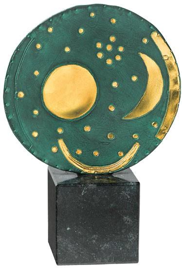 Skulptur Himmelsscheibe von Nebra (Reduktion)