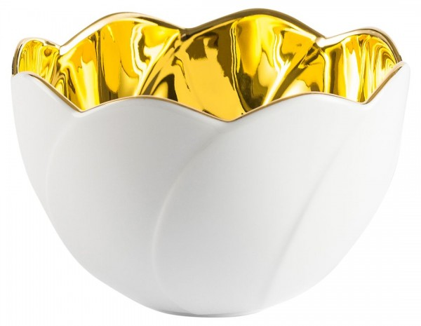 DDV Lokal Exklusiv - Meissener Porzellan - Seerosenschale gold