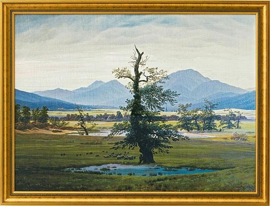 Caspar David Friedrich: Bild Der einsame Baum (1821)