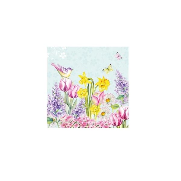 Servietten Blooming Garden