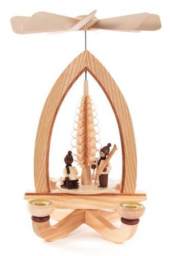 Weihnachtspyramide Winterkinder für Kerzen Durchmesser 14mm