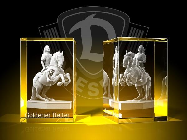 Goldener Reiter dynamisch - Quader