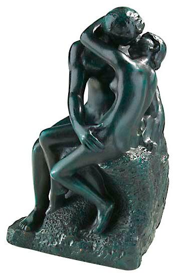 Auguste Rodin: Skulptur Der Kuss (19 cm)