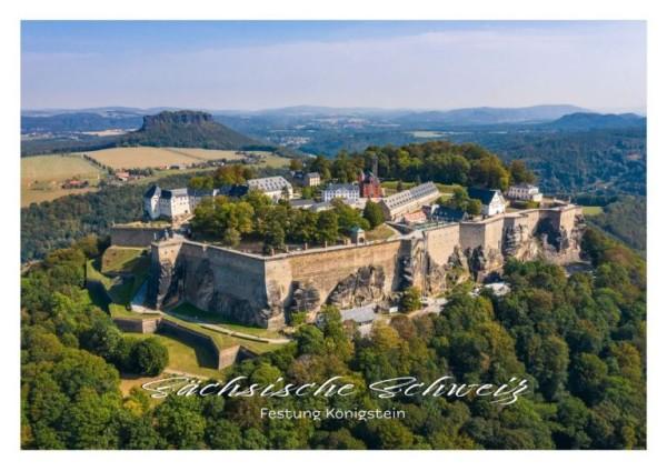 Postkarte Sächsische Schweiz - Festung Königstein (Motiv PO_SSW_56)