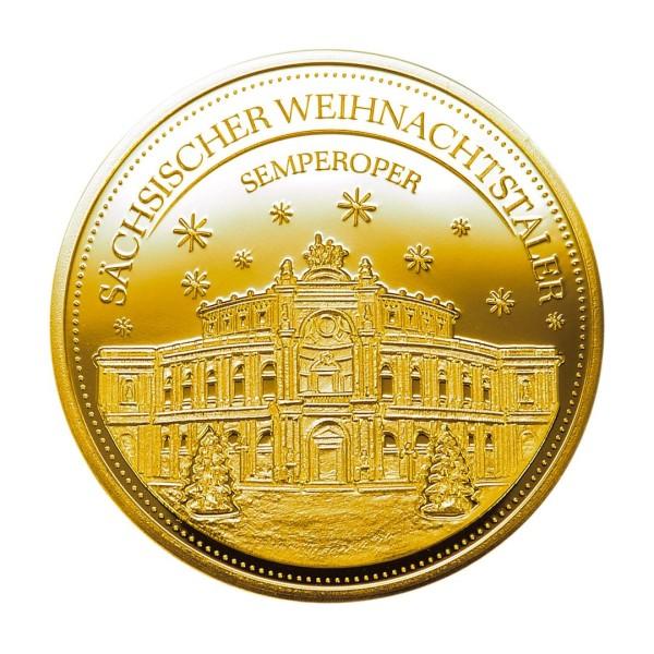 Sächsischer Weihnachtstaler 2020 - Feingold