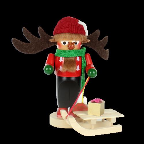 Nussknacker Rudolph mit Schlitten/Rudolph with Sleigh