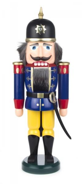 Nussknacker Soldat blau-gelb, 37cm