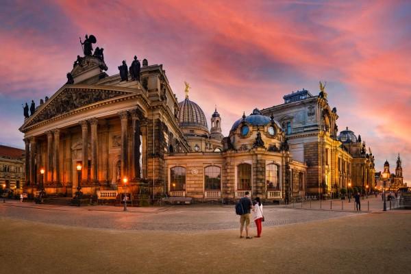 Wandbild Dresden - Die Brühlsche Terrasse (Motiv DMDD25)