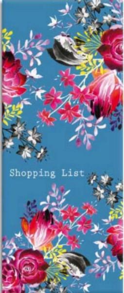 Shoppinglist Blumenmotiv