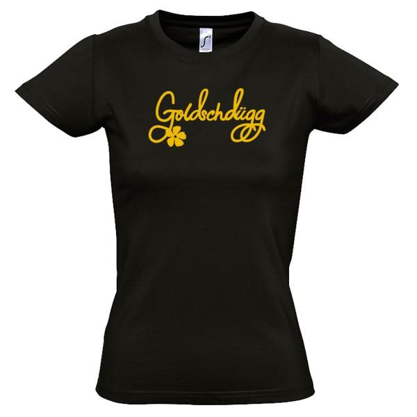Damen-Shirt Goldschdügg schwarz