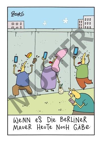 Postkarte Mauer