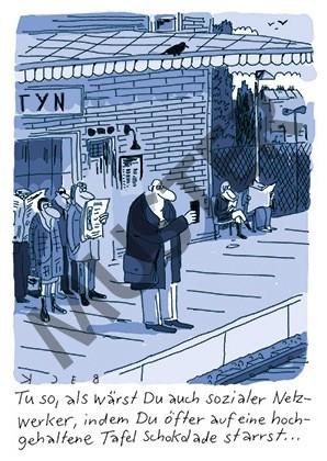 Postkarte Sozialer Netzwerker