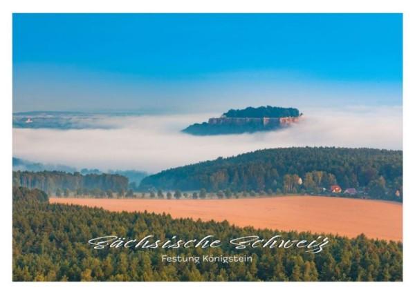 Postkarte Sächsische Schweiz - Königstein in Wolken (Motiv PO_SSW_55)