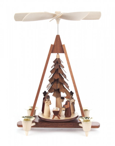 Weihnachtspyramide Christi Geburt für Kerzen Durchmesser 14mm