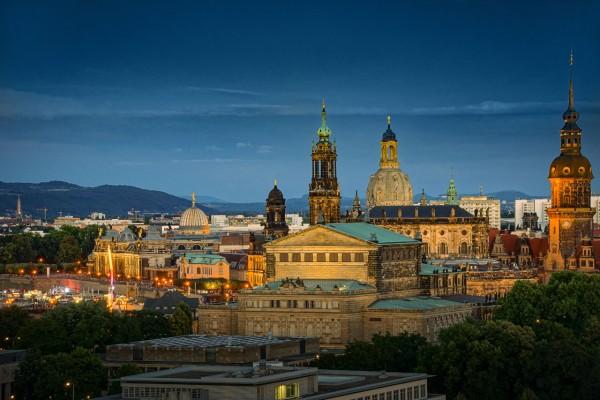 Wandbild Dresden - Blick auf die Dresdner Altstadt (Motiv JR101)