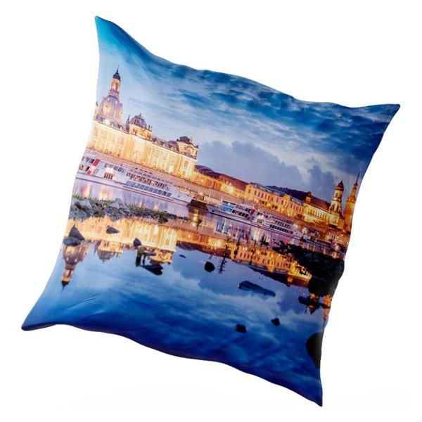 Kissenbezug Dresden - Skyline zur Blauen Stunde (Motiv 00408)