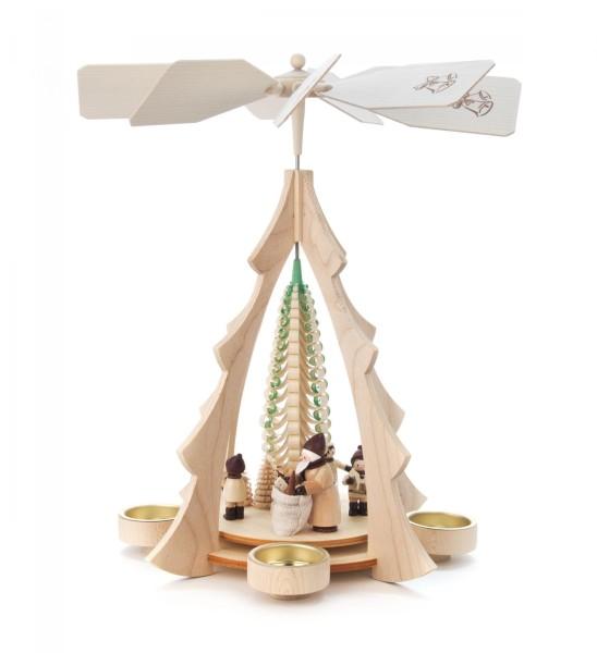 Weihnachtspyramide Weihnachtsmann für Teelichte
